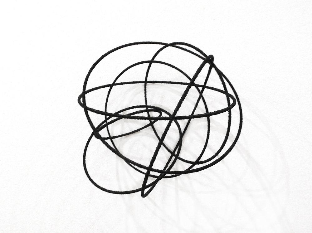 island Vl, 2012, metal, wire, diameter ca 30cm