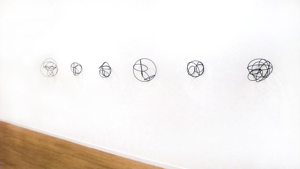 Island l-Vl , 2012, metal, wire, each diameter ca 30cm   Regionale 13  at Kunstraum Riehen