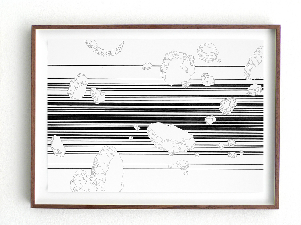 Vision/ quaalude, 2008, pencil on paper, 29,7 x 42cm