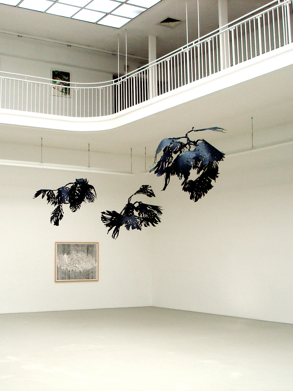 Monstera , 2007 metal, paper, glue, nylon at  Ausgezeichnet! , Kunstverein, Freiburg