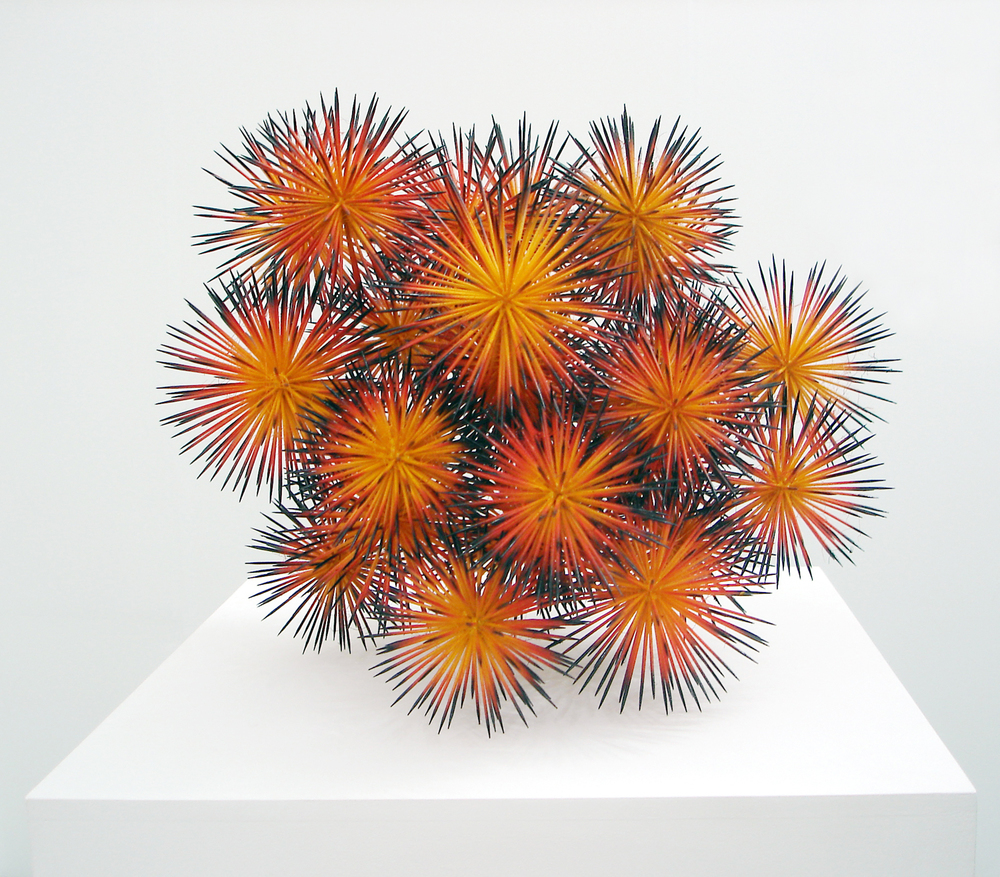 stars, 2006, wood, hot glue, spray paint, diameter 50cm