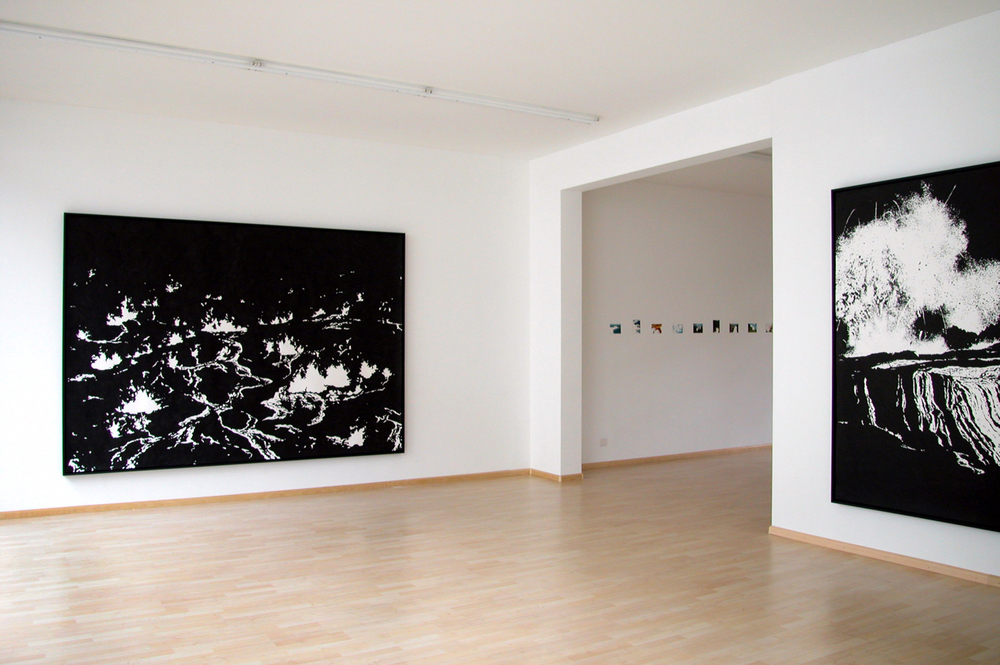 ground ll, ground l,  2004, ink on paper, 196 x 276cm  solid tremors, 2004, Galerie Friedrich, Basel