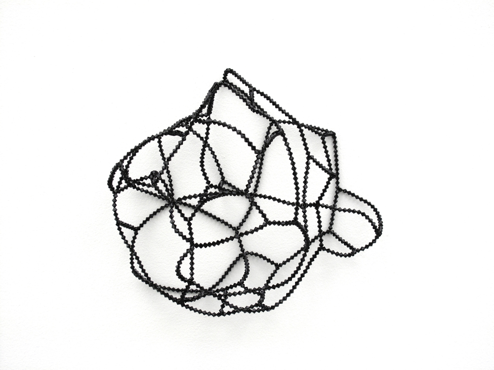 crystal silence V   , 2011 , wire beads, 38 x 35 x 16cm  stray currents, 2011, Towner, Eastbourne