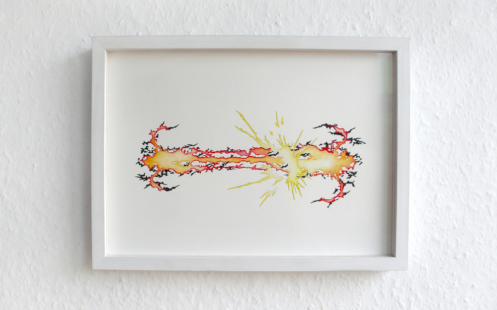 fighter Vl , 2005, watercolor and pencil on paper, 20 x 27cm  Sonntag by Adrian Schiesser und April Gretler, Berlin