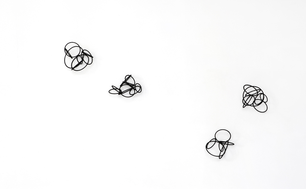 island est l-lV, 2014, metal, wire, diameter ca  18-24cm