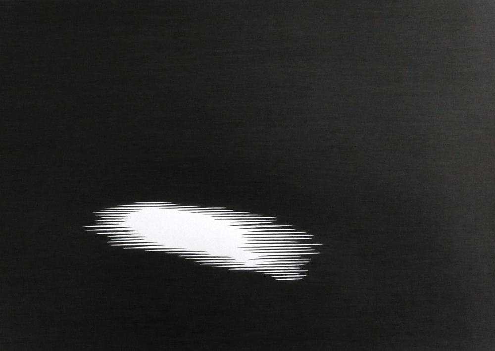 Shadows l-V , 2013, pencil on paper, 29,7 x 21cm