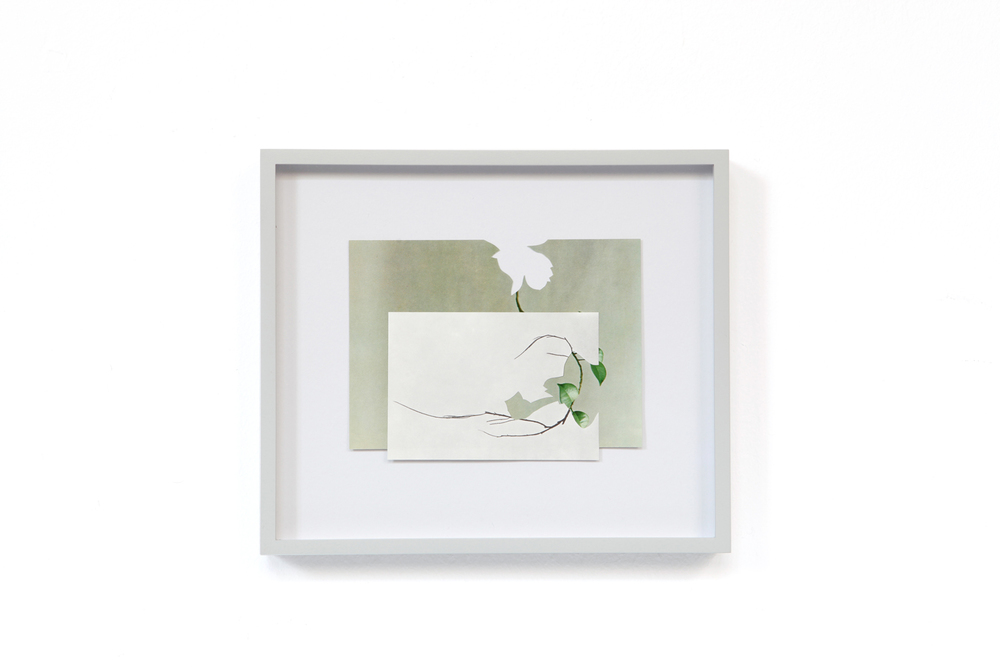 Shape/ chinook , 2014, paper, glue, 21 x 24,3cm