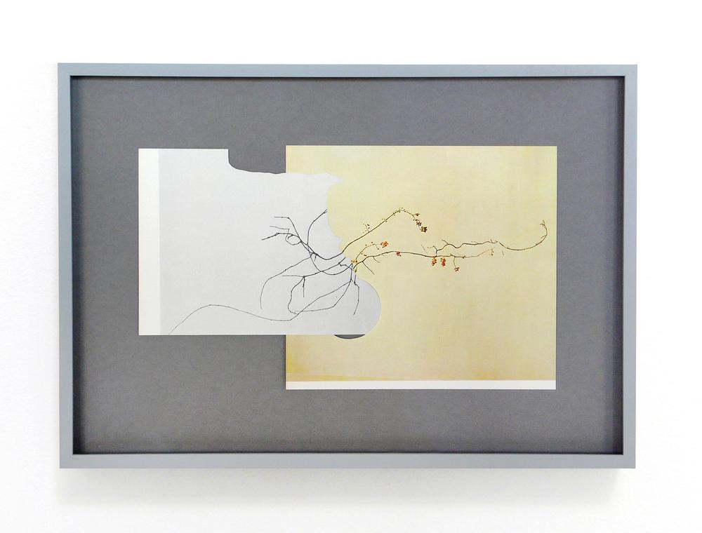 shape/ negeq, 2014  , paper, glue , 25,4 x 36,5cm