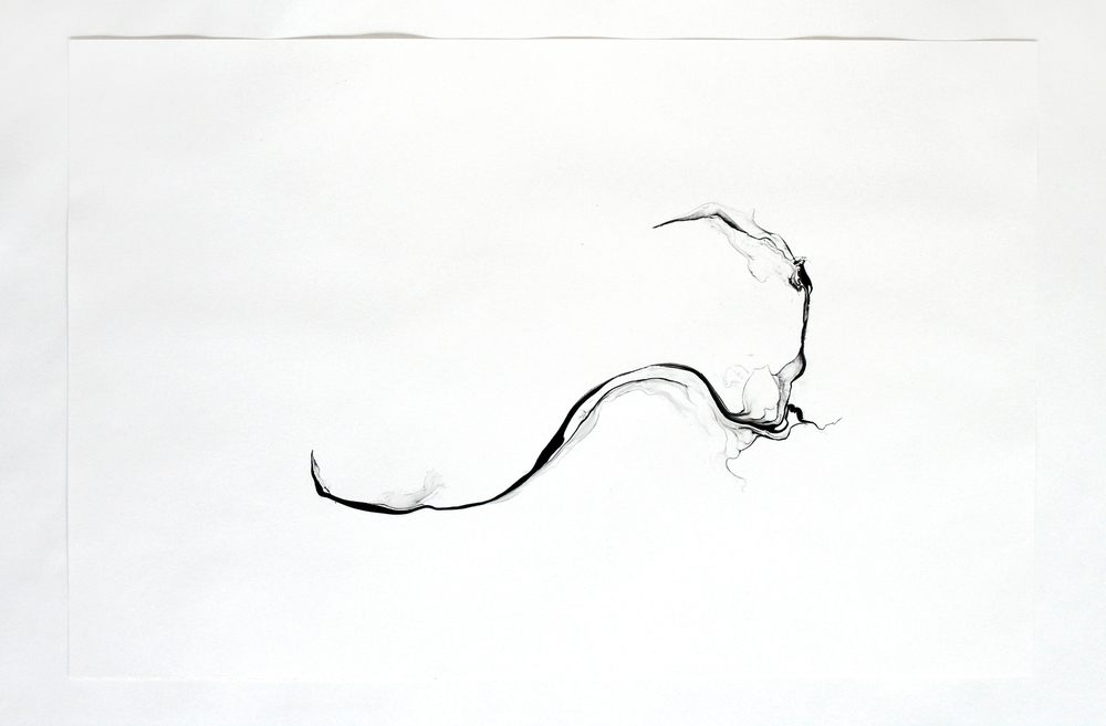 turbulences/ phuyu, 2014, ink on paper, 62,5 x 92cm