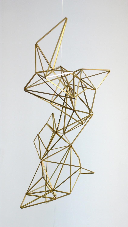 spell/ yakshi, 2014, brass, wire