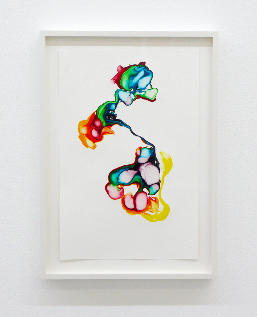 scattered rainbow/ ylber, 2014, ink on paper, 29,7 x 20cm