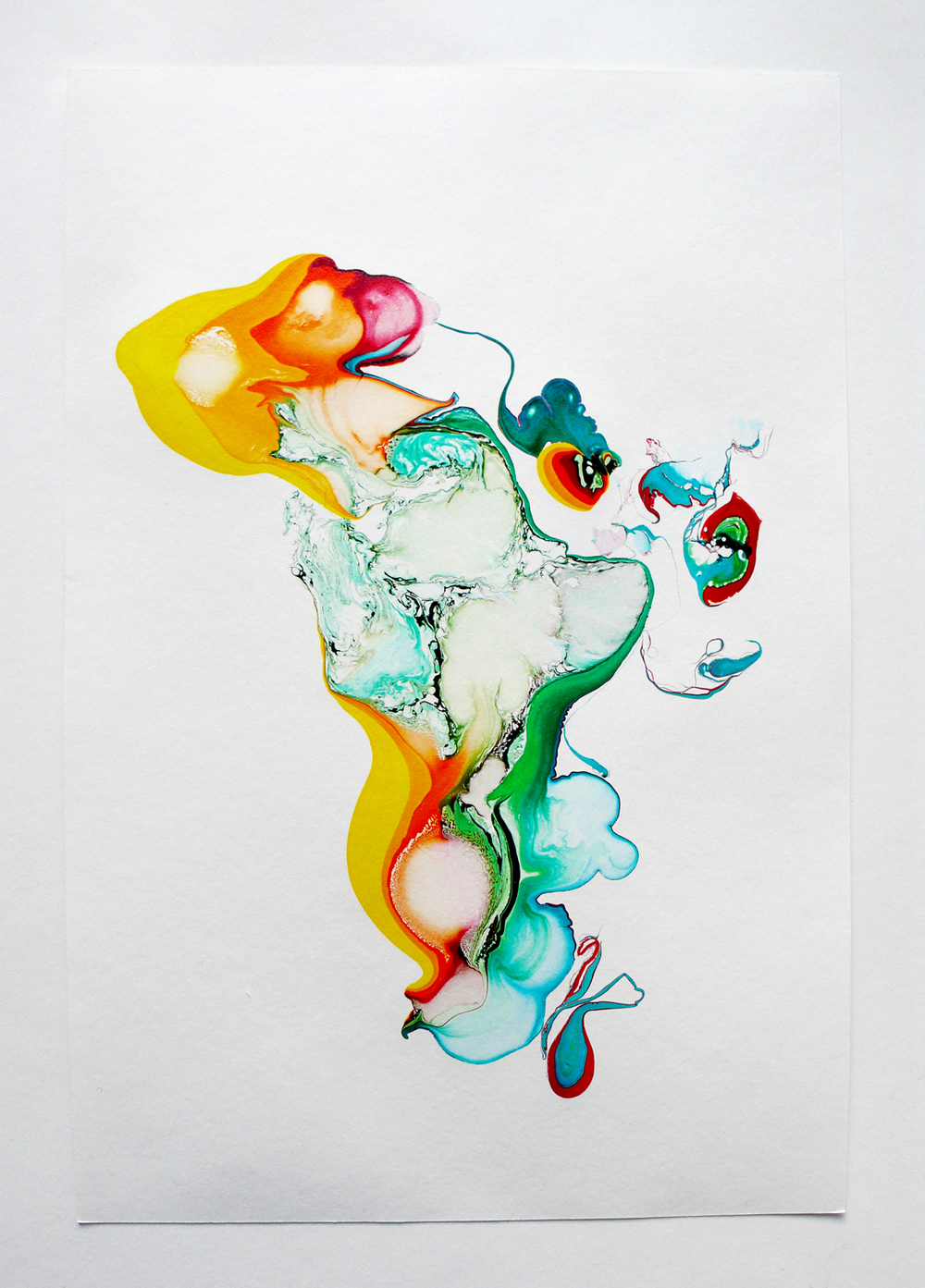 Scattered Rainbow/ niji,  2014, ink on paper, 29,7 x 20cm