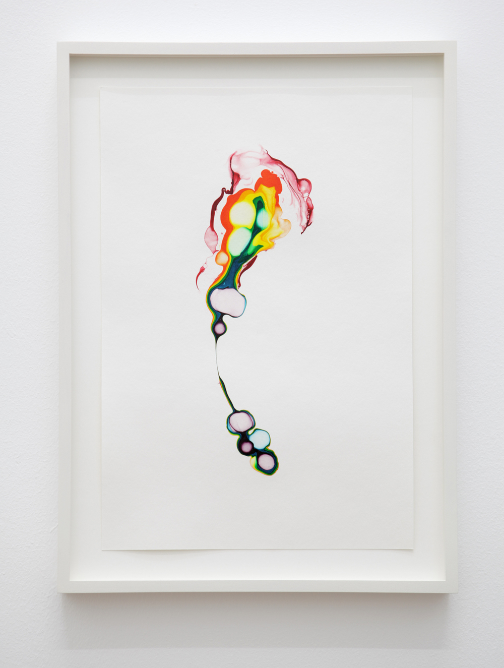 Scattered Rainbow/ enfys , 2014, ink on paper, 29,7 x 20cm