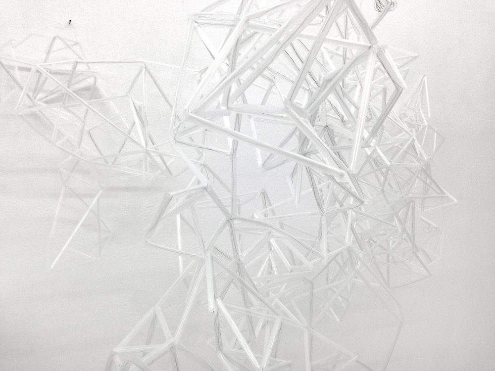 Liquid Days , 2017, straws, wire, dimensions variable