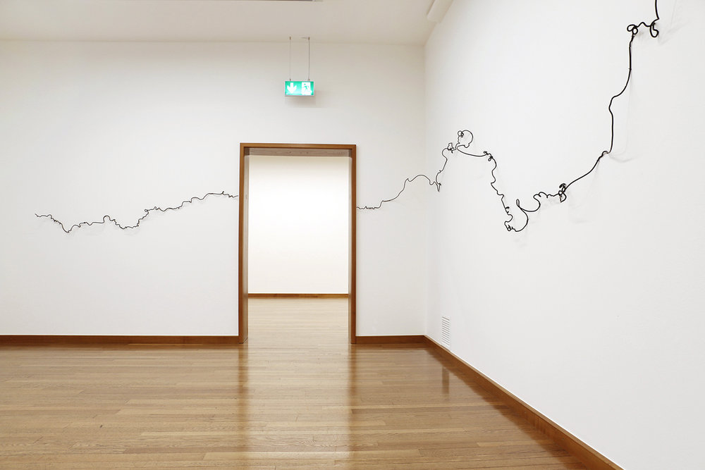 scribbles, 2017, glass, dimensions variable, Kunstmuseum Basel