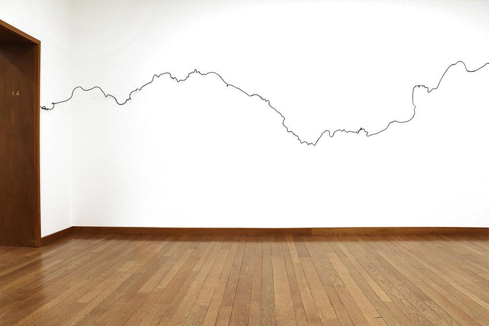 Scribbles , 2017, glass, variable dimensions; at Kunstmuseum Basel