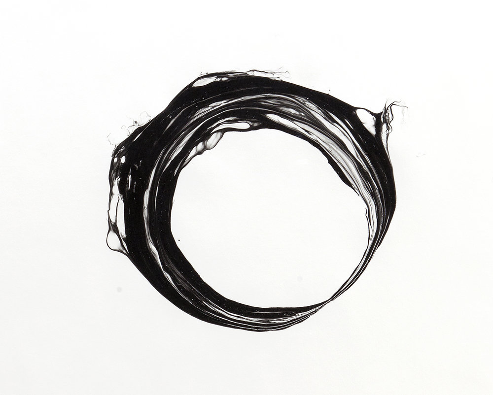 Corona V, 2012, ink on paper, 151 x 125,5cm