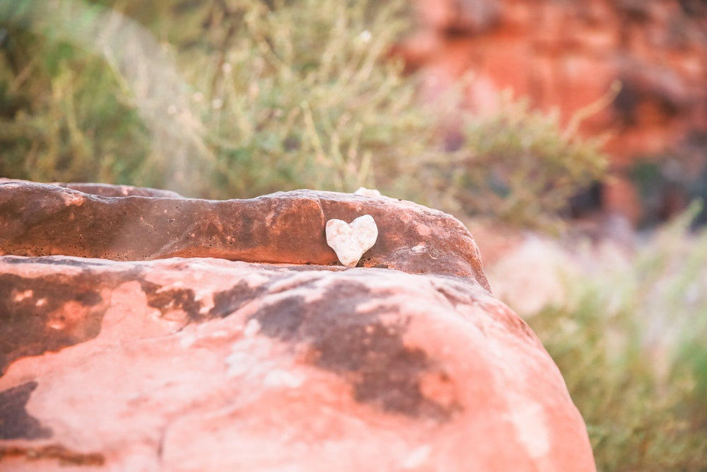 Thank you to the kind soul that placed this rock here for hikers to see on the arduous  journey out of the desert.  My first instinct was to take it and put it in my pocket since I collect heart shaped rocks, but I felt that would be bad juju to remove anything from such a sacred place...  so I left it for the next person to see.  #spreadlove