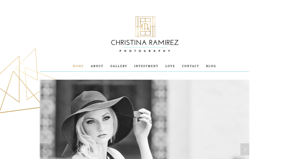 Christina Ramirez Photography Website Design
