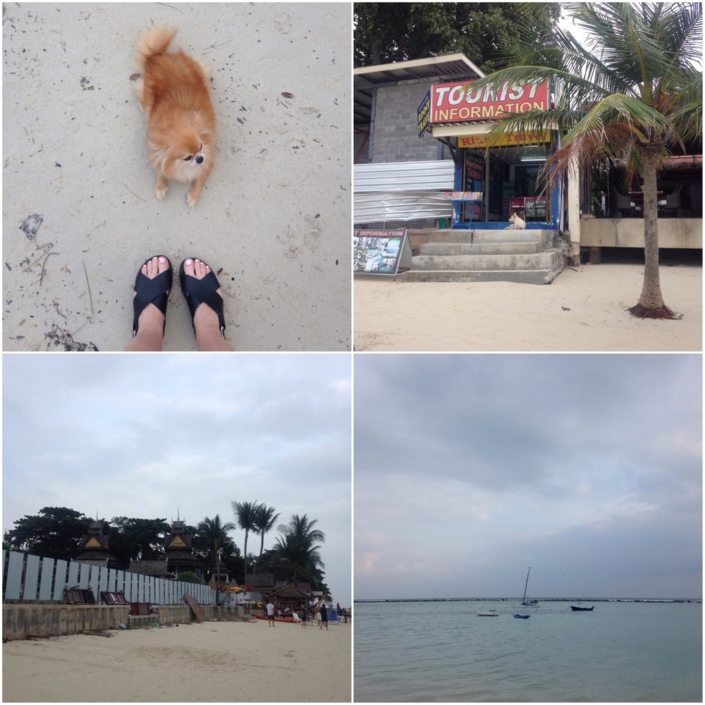 02/01/15 After the chaos and fun of Full Moon Party (no photos to show on here as I didn't risk getting my phone out!) it was time to hop into the back of the pick up truck and catch another ferry to Koh Samui. The island was overcast when we arrived, but it was still beautiful. Will and I pulled the short straw on rooms this time and had a room with fan facilities whilst Chris and Megan got the air conditioned room - which wouldn't have been so bad, had I not been struck with food poisoning on the second day which meant we were confined to a warm, stuffy room with a bad smell (me)