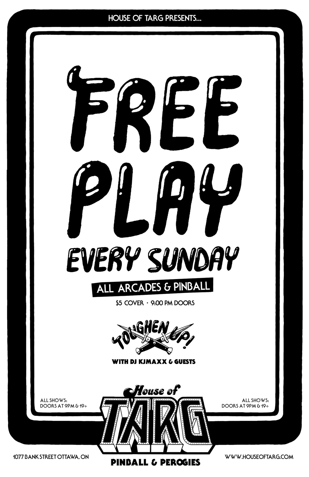 Sunday Nights with DJ KJAMXX & Guests. FREEPLAY Pinball & Vids STARTS AFTER 9pm - $5