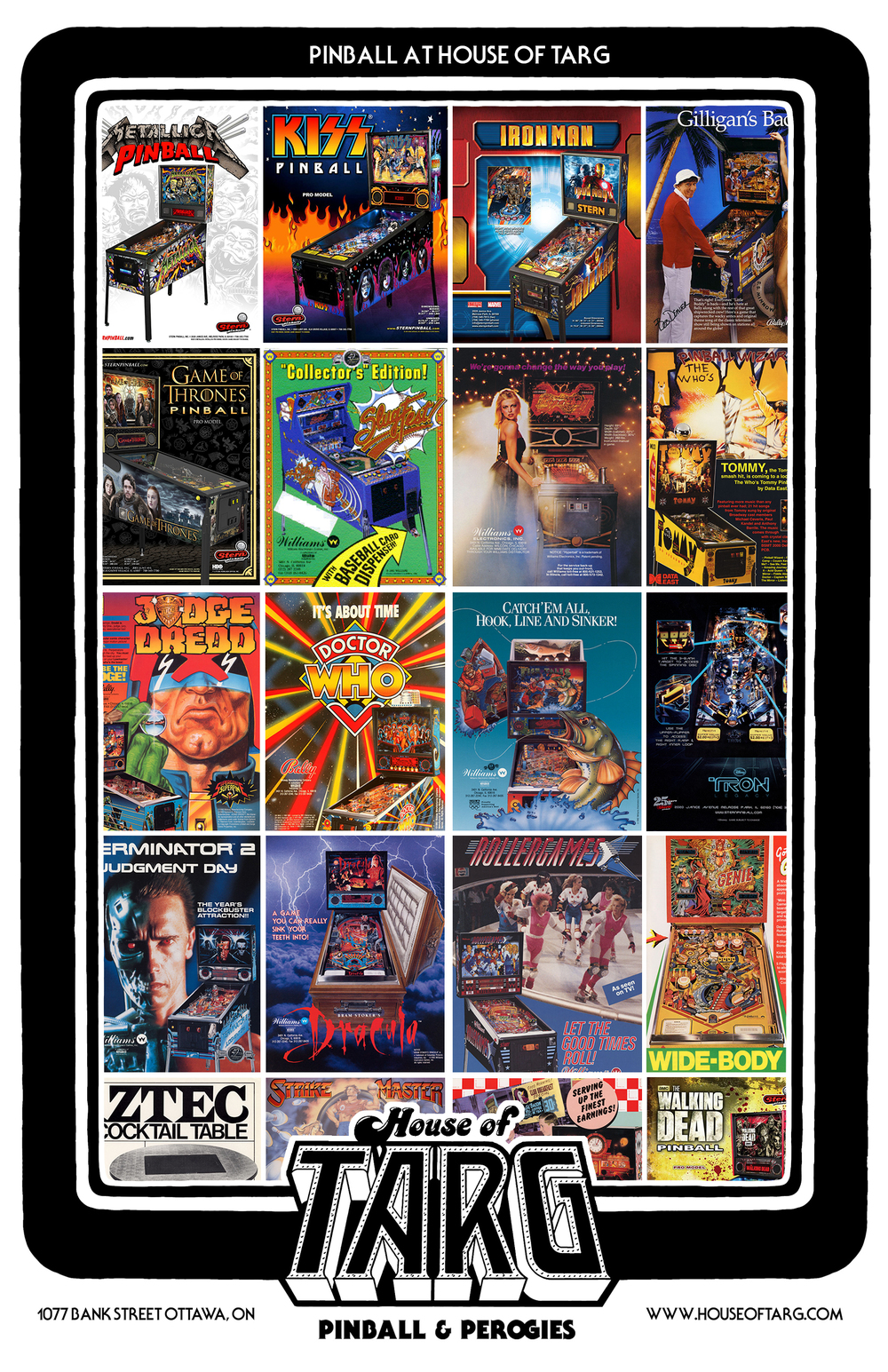 Current Pinball Machines at TARG