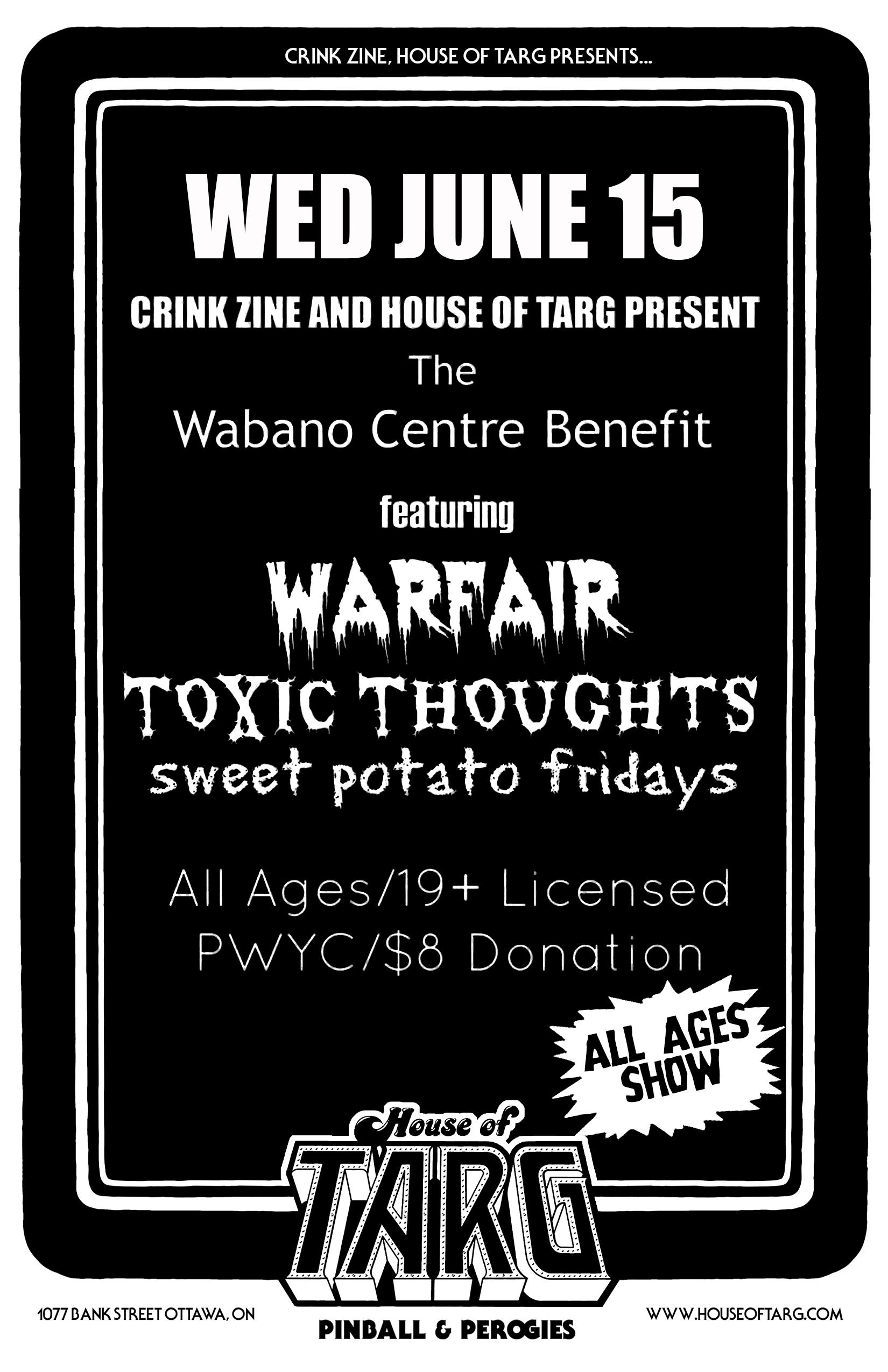 WARFAIR + Toxic Thoughts + Sweet Potato Fridays — House Of TARG