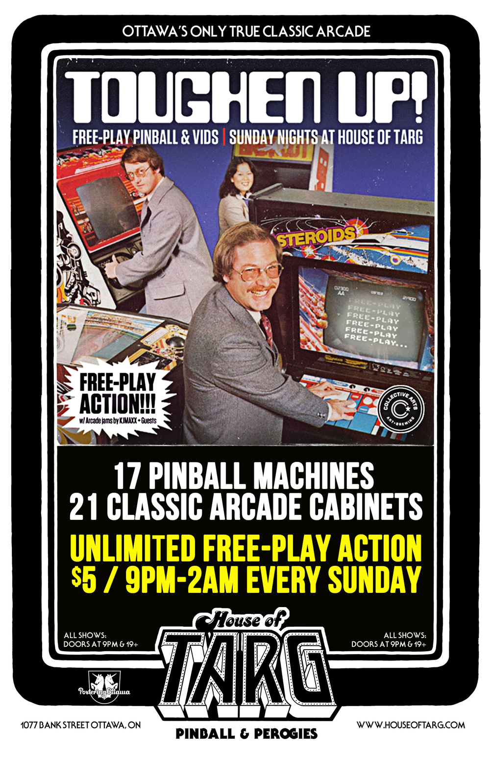 If you are 19+ bring your dad to Free-Play Sunday after 9pm & he gets in for FREE!