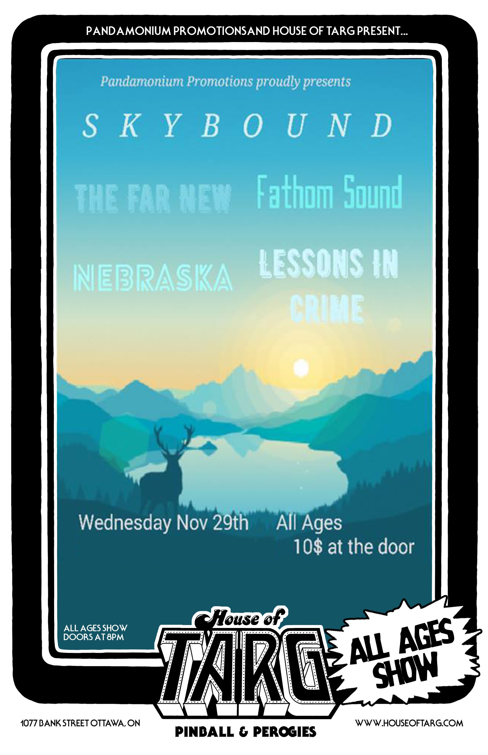 ALL AGES SHOW: Skybound + Fathom Sound + The Far New + Lessons in