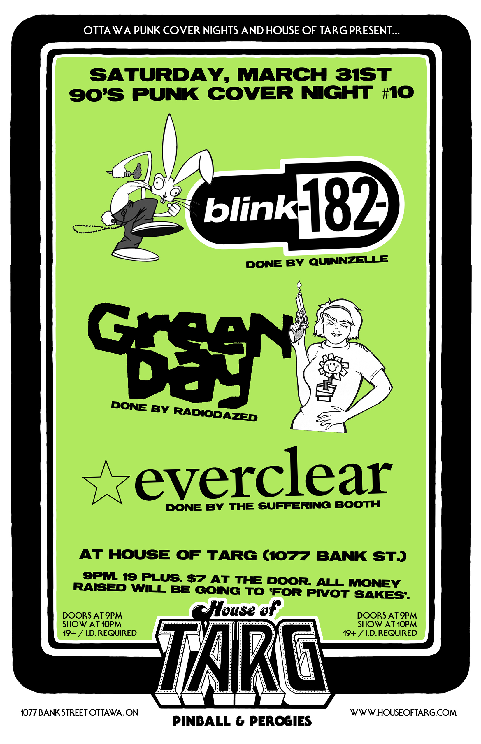 90s Punk Cover Night #10 - Bands Covered: BLINK 182 + GREEN