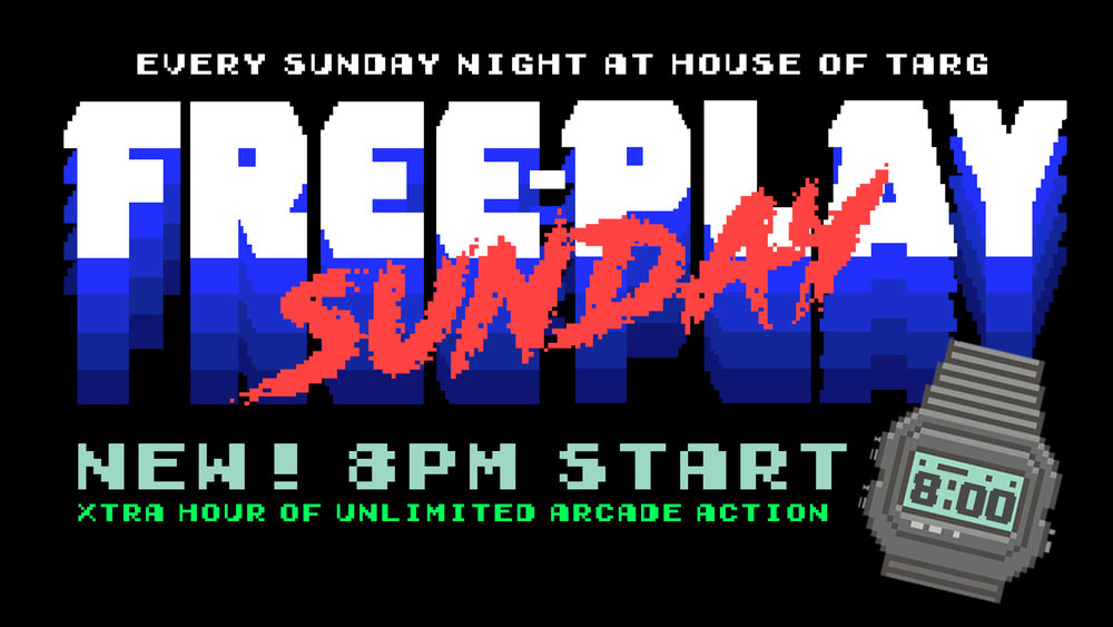 New 8pm Start. Xtra hour of Free-Play Power.