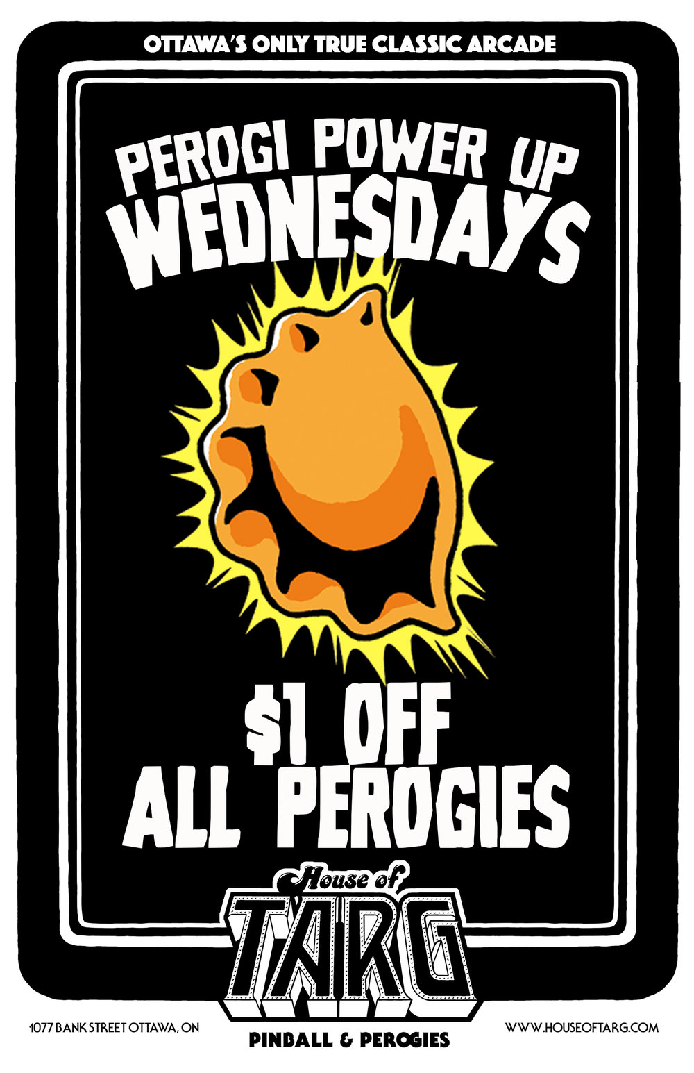 $1 Off Perogies Every Wednesday Starting at 5pm.