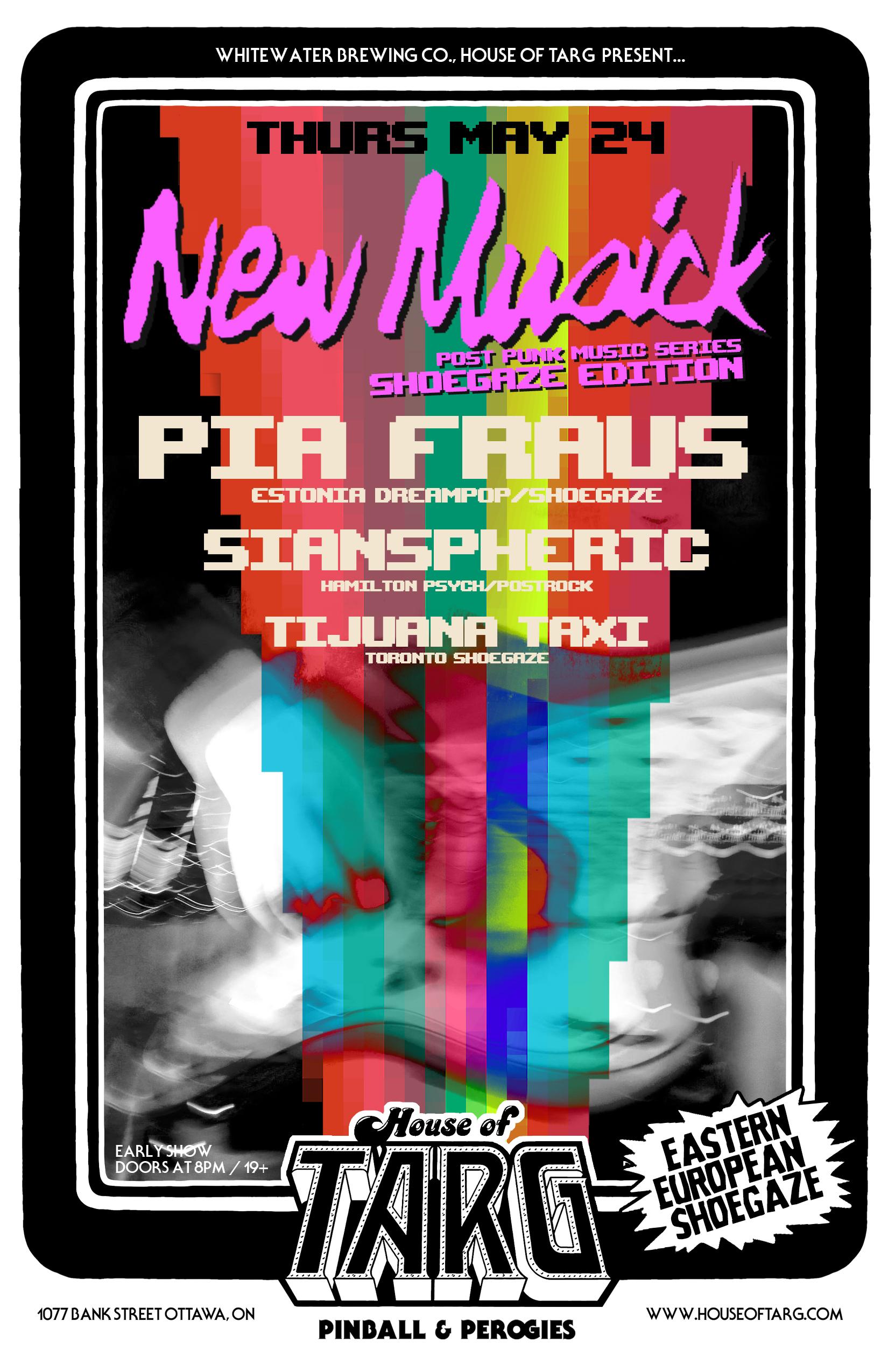 NEW MUSICK w/ Pia Fraus (Estonia) + SIANspheric + Tijuana Taxi