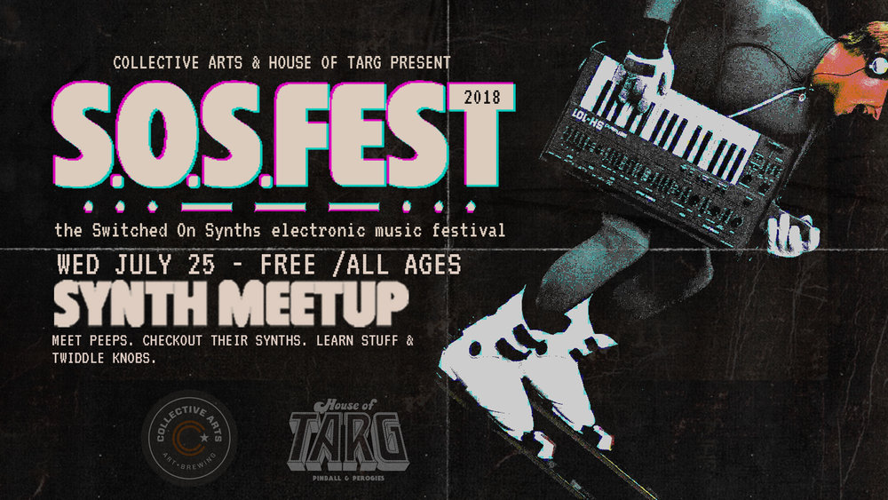 SYNTH MEET UP  MEET PEEPS. CHECKOUT THEIR SYNTHS. LEARN STUFF & TWIDDLE KNOBS.  Wed July 25