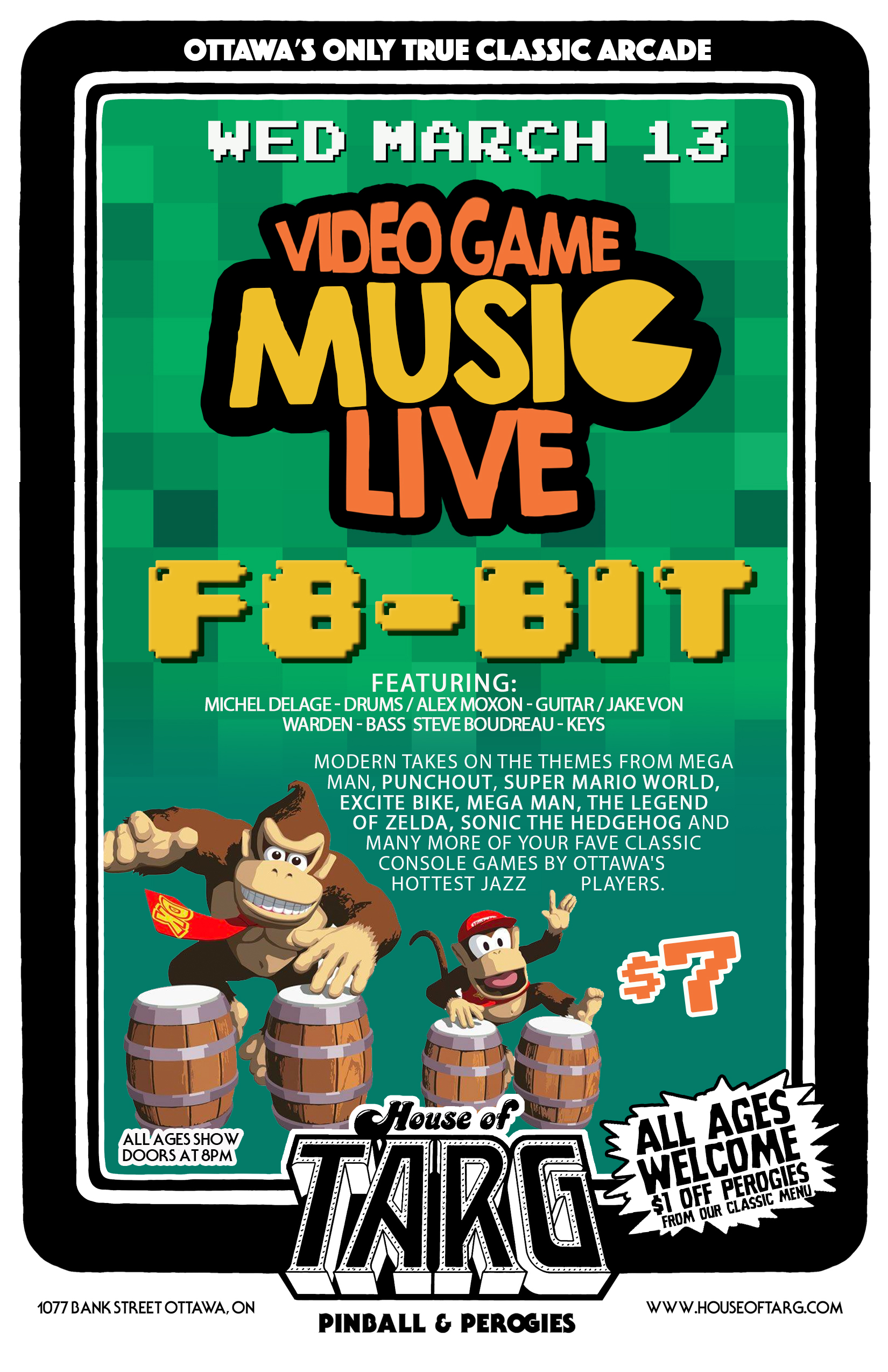 VIDEO GAME MUSIC LIVE - w/ F8-BIT — House Of TARG