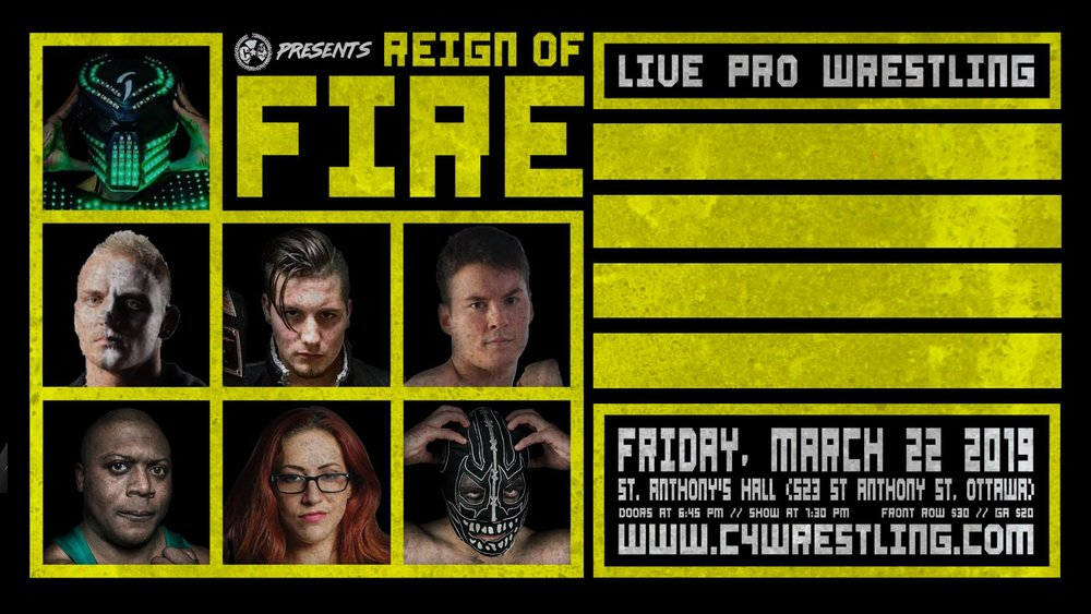 C 4 REIGN OF FIRE  Friday March 22 St. Anthony's Hall     Join us at TARG for the official after Party. C *4 ticket holders get in for only $5