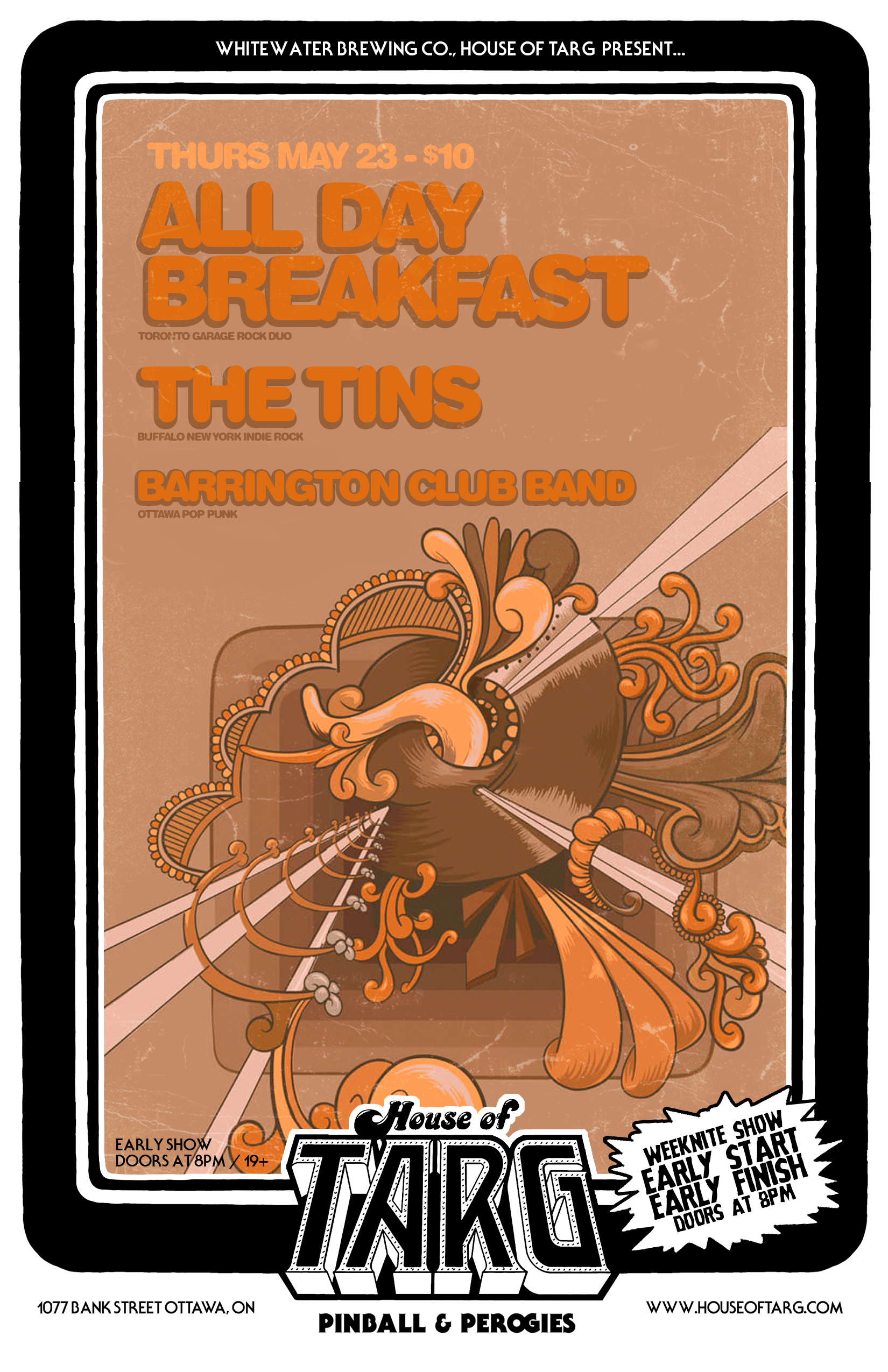 ALL DAY BREAKFAST + The Tins (Buffalo, NY) + Barrington Club Band