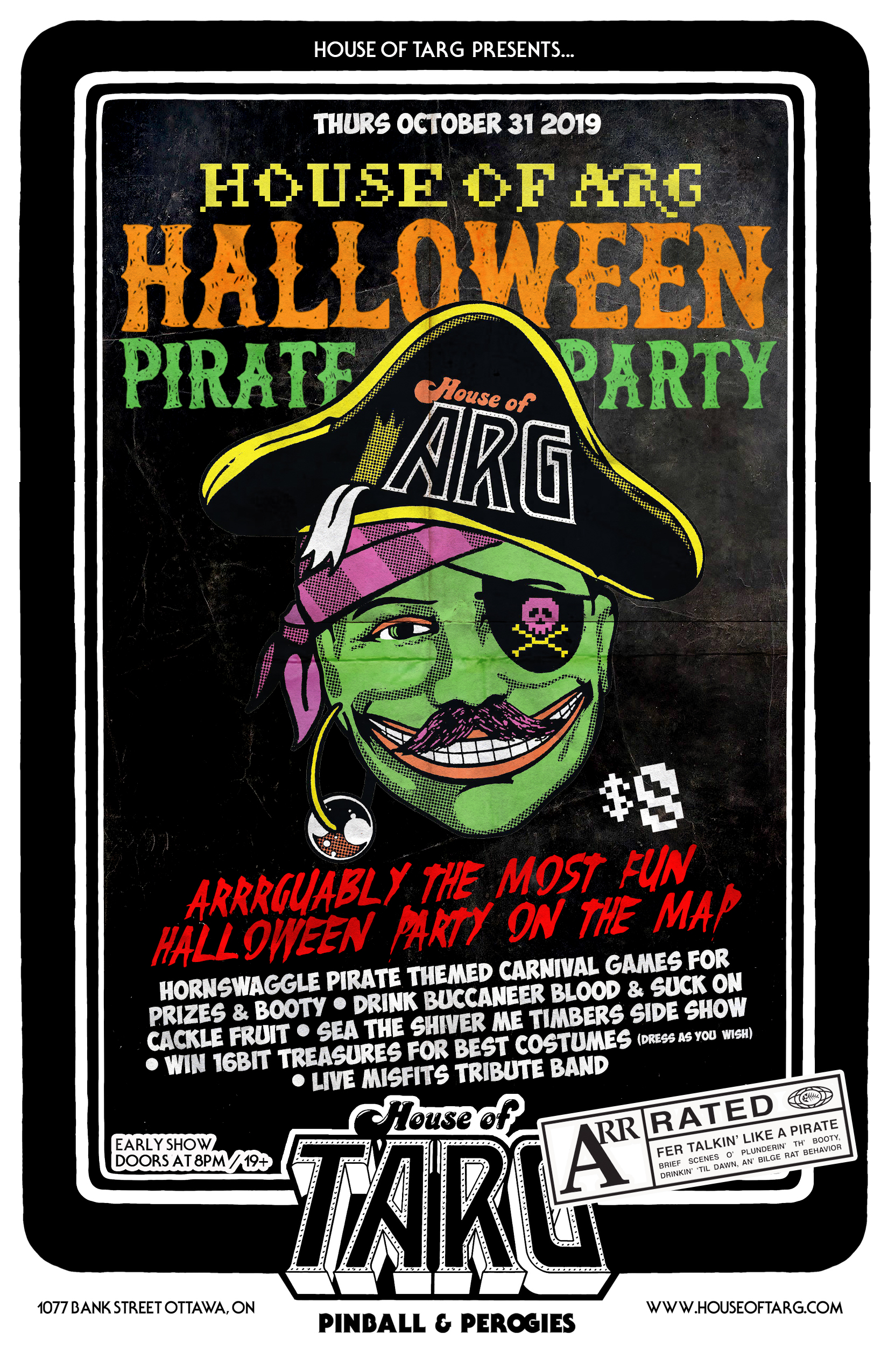 House Of Arg Halloween Pirate Party Krooked Karnival
