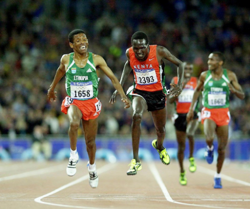 Haile Gebrselassie (1658) had the best performance range in history.