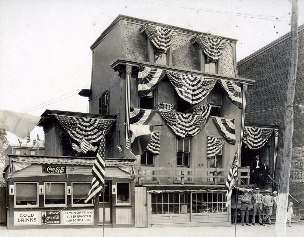 Originally 242 Bridge Street was an Elks Club.  This photo was taken in 1913!!