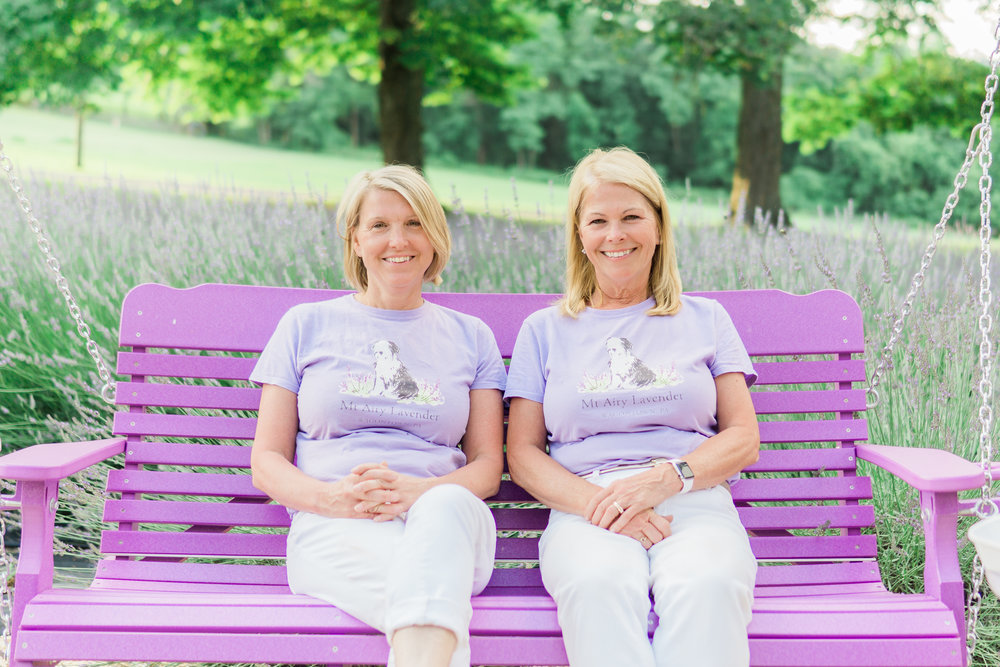 Amy and Joanne welcome you to Mt Airy Lavender.