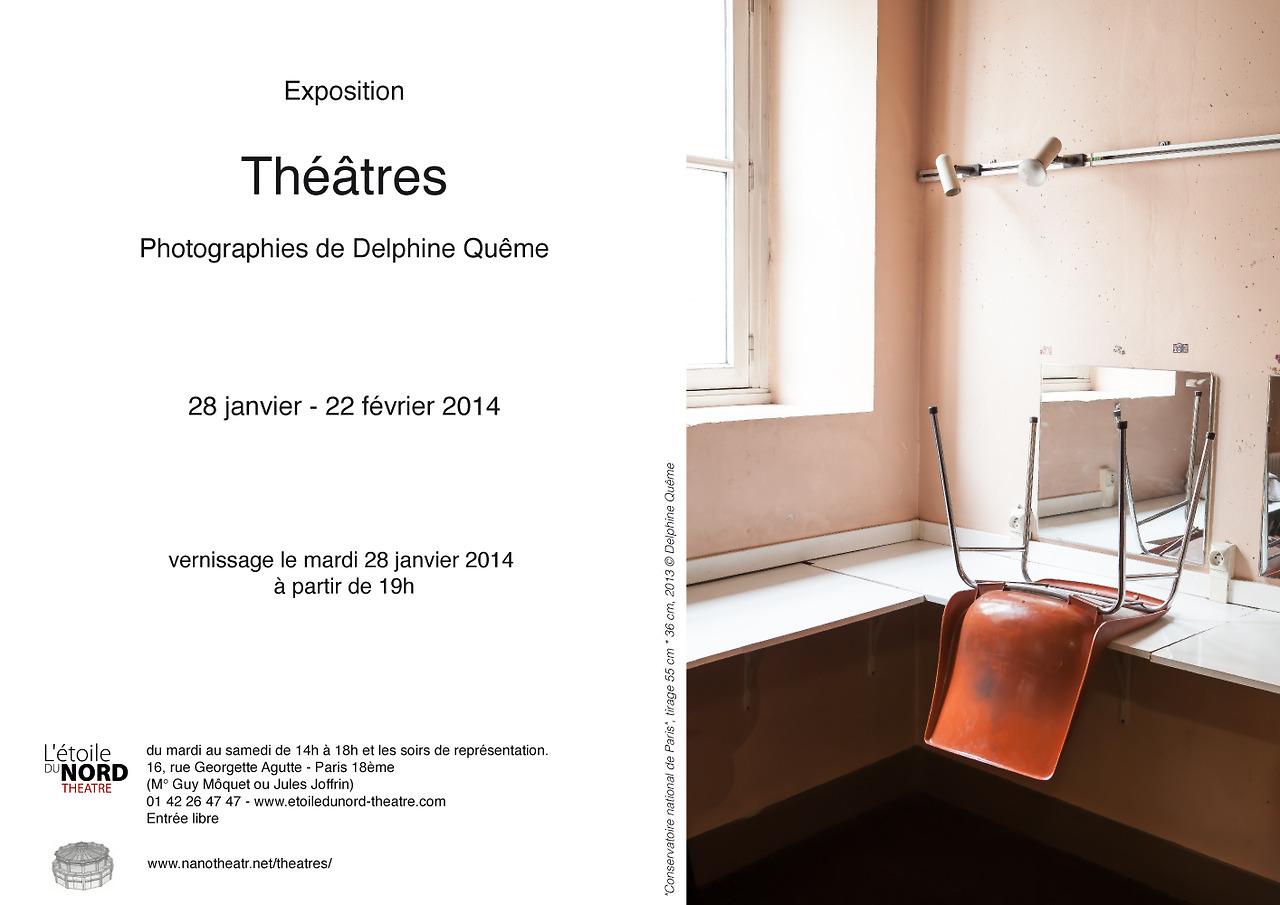 Très heureuse d'annoncer mon exposition sur la série que j'ai faite sur les théâtres parisiens tout au long de l'année 2013.   N'hésitez pas à venir au vernissage le mardi 28 janvier.    L'évenement sur Facebook:    https://www.facebook.com/events/1390975201156928/