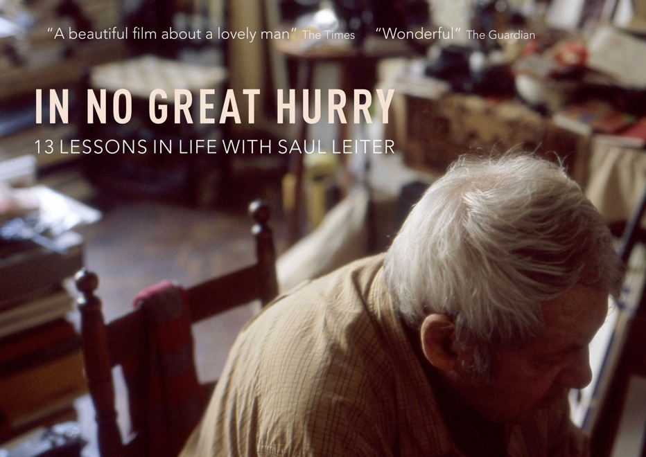 http://innogreathurry.com/InNoGreatHurry/Home.html     Documentary on Saul Leiter, one - by far - of my favorite photographers.
