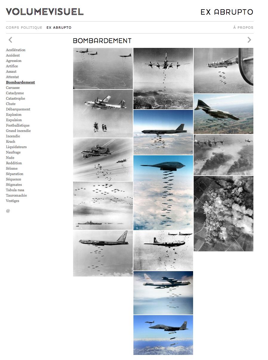 Etonnants assemblages de photos, sur la base, à chaque fois, d'un mot choisi.     http://www.volumevisuel.fr/Collections/