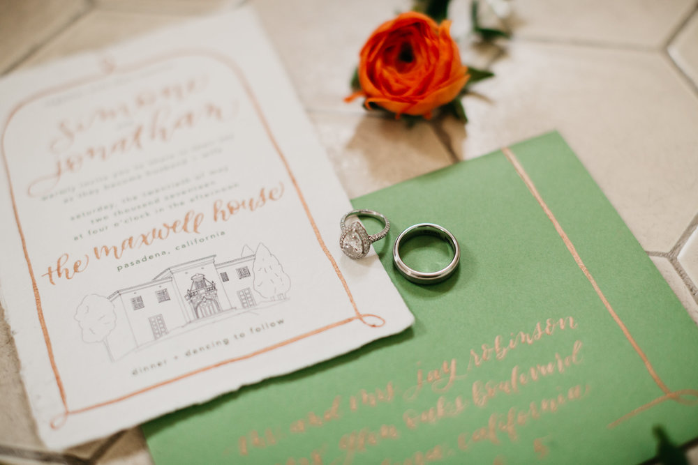 Mason Alley Calligraphy - Mason Alley knows all the beautiful features of The Maxwell House and can incorporate those into a one-of-a-kind personalized invitation, menu, seating chart or other beautiful caligraphy