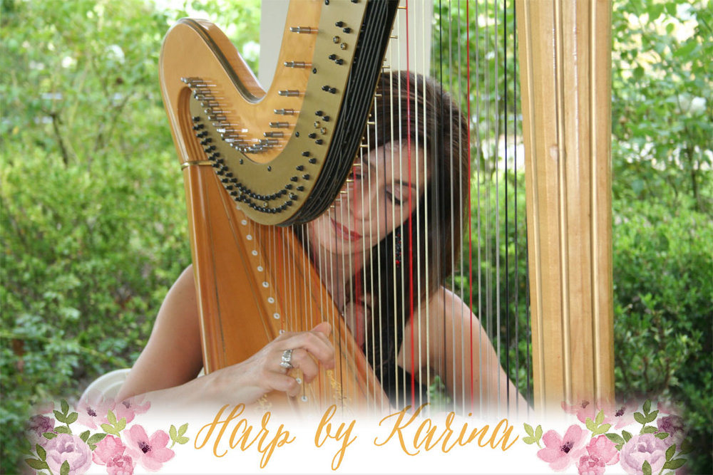 Harp By Karina  - The harp sounds truly stunning with the acoustics at The Maxwell House, as we learned after hearing Karina perform at our venue. She has a wide range in portfolio of music she can play for all types of events. We love how wonderful the harp sounds and how quickly it transforms the environment into feeling like a truly special occasion.