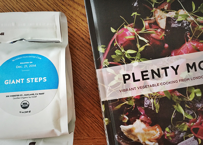 Blue Bottle coffee + meal planning with Ottolenghi