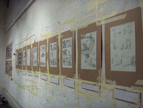 Rumore, collective exhibition at the Fumetto Comic Festival, Luzern, 2009