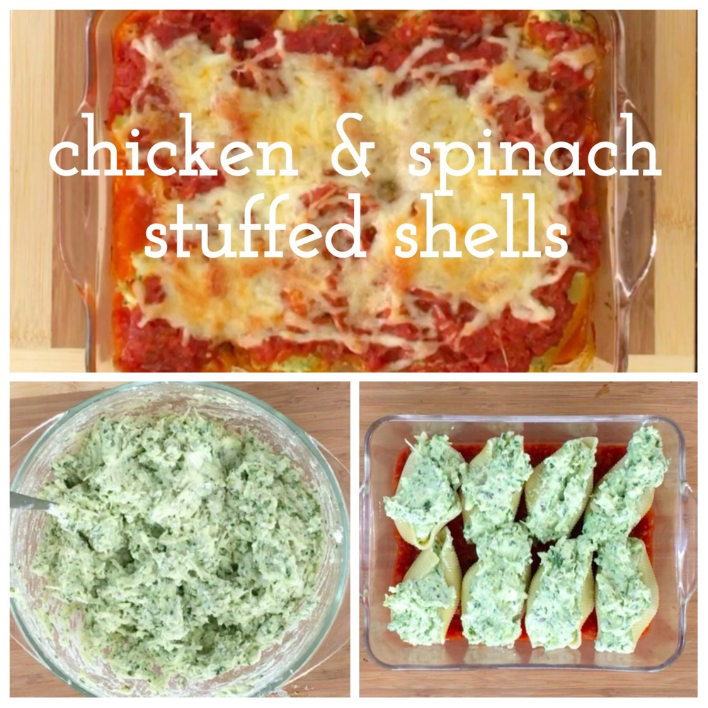 Chicken spinach stuffed shells a whole family meal simple baby btw the additional stage 2 puree at the bottom of the recipe is for a baby who is 8 months therefore that recipe is pared down no sauce cream cheese forumfinder Images