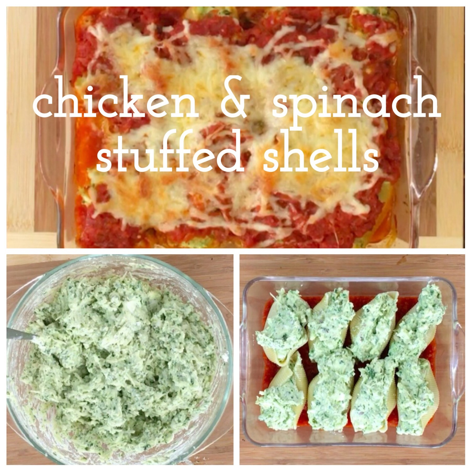 Chicken spinach stuffed shells a whole family meal simple baby imageg forumfinder Choice Image